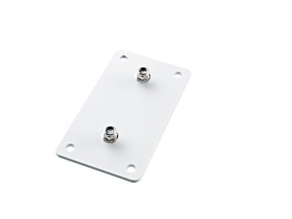 K&M 24356 Adapterplatte 3 weiß
