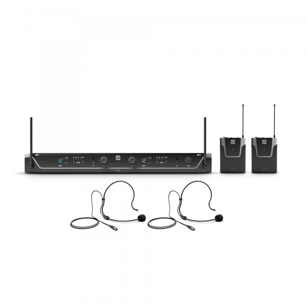 LD Systems U304.7 BPH 2 - Funkmikrofon System mit 2 x Bodypack und 2 x Headset - 470 - 490 MHz