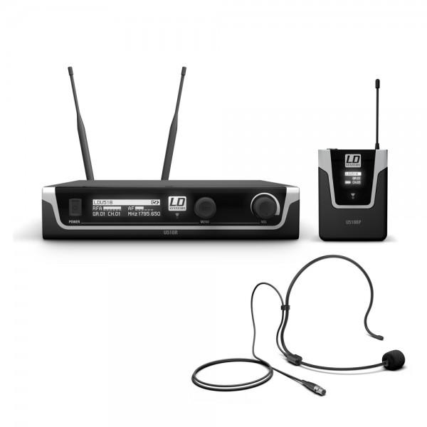 LD Systems U518 BPH - Funkmikrofon System mit Bodypack und Headset