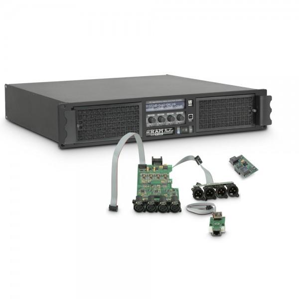 Ram Audio W 12004 DSP E AES - PA Endstufe 4 x 3025 W 2 Ohm inkl. DSP mit AES/EBU digitalem Eingang +