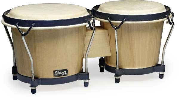 "STAGG BW-70-N 6"" u. 7"" Traditionelles Bongo Set mit Holzkessel"