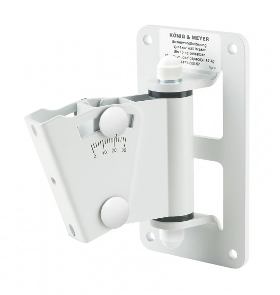 K&M 24471 Boxenwandhalter weiß
