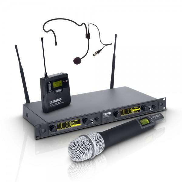 LD Systems WIN 42 HBH2 - Funkmikrofon System mit Handmikrofon dynamisch und Headset