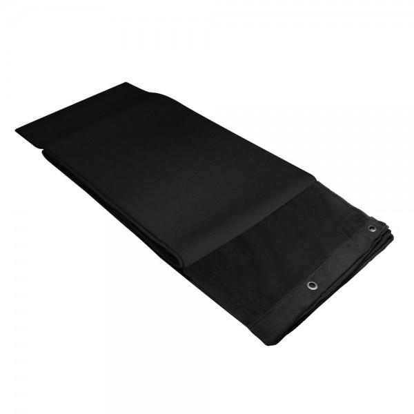 Adam Hall Accessories 0151 X 33 - Dekomolton B1 mit brünierten Ösen, gesäumt, 3 x 3 m, schwarz