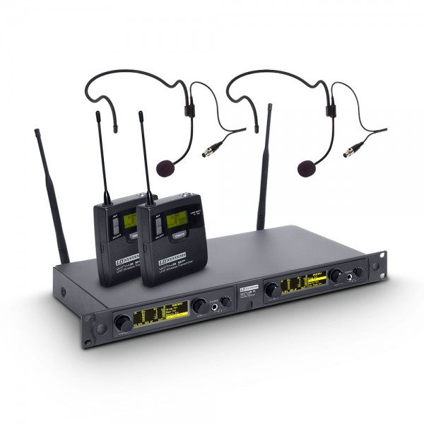 LD Systems WIN 42 BPH 2 - Funkmikrofon System mit 2 x Belt Pack und 2 x Headset