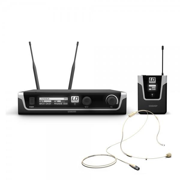 LD Systems U506 UK BPHH - Funkmikrofon System mit Bodypack und Headset hautfarben