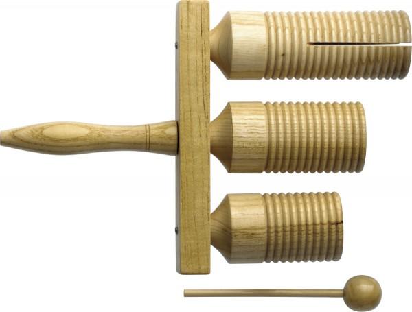 STAGG GTTB-126 Drei-Ton Holz Agogo Glocke mit Schlegel