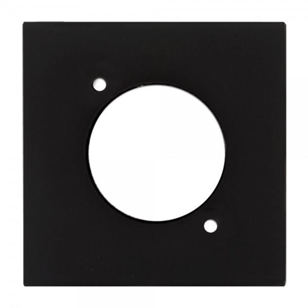 Audac CP 45 DSZB - Anschlussplatte mit Befestigungsöffnung (D-Typ) schwarz
