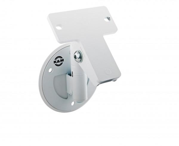 K&M 24161 Universal-Boxenwandhalter weiß struktur