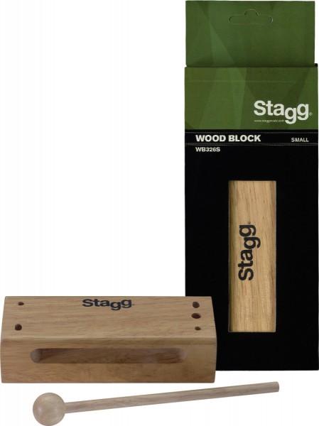 STAGG WB326S Kleiner Thai Block aus Holz m. Schlegel