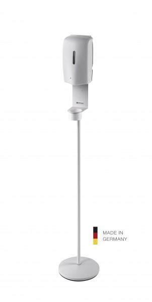 K&M 80329 Desinfektionsmittelständer reinweiß inklusive Sensorspender