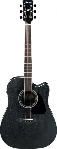 Ibanez AW84CE Weathered Black Dreadnought Westerngitarre