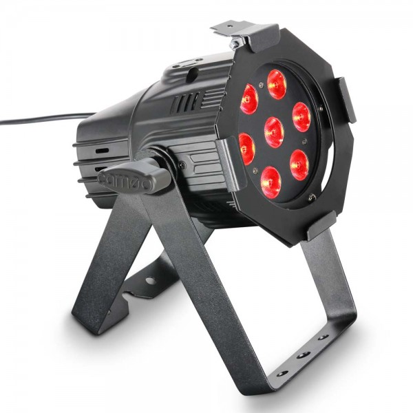 Cameo Studio Mini PAR Q 8W - 7 x 8 W QUAD Colour LED RGBW PAR Scheinwerfer in schwarzen Gehäuse