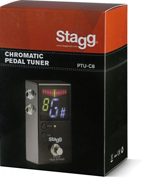 STAGG PTU-C8 Auto-Chromatisches Tuner-Pedal für Gitarre, Bass und weitere Musikinstrumente