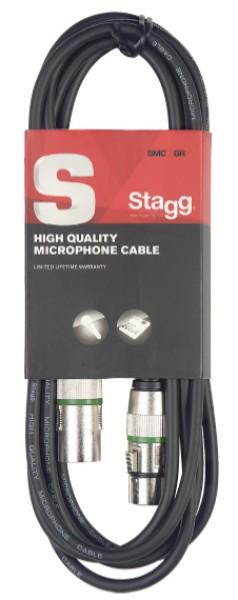 STAGG SMC10 GR Mikrofonkabel, XLR/XLR (m/f), 10 m, Ring Grün