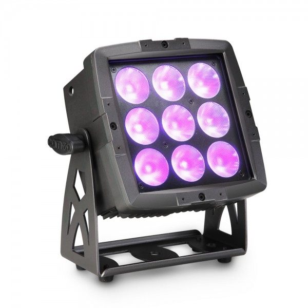 Cameo FLAT PRO FLOOD 600 IP65 - Outdoor-Fluter mit 9x12W RGBWA+UV 6-in-1 LEDs