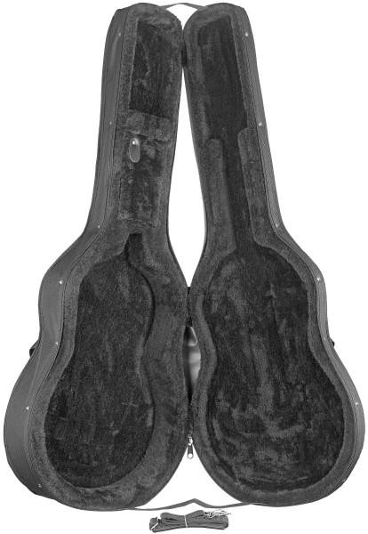 STAGG HGB2-C THIN Basic Serie Softcase für 4/4 klassische Gitarre mit eingebautem Preamp und dünnem