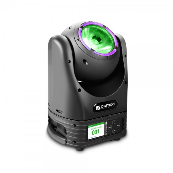 Cameo MOVO BEAM 100 - Beam Moving Head mit LED-Ring und Endlos-Drehung