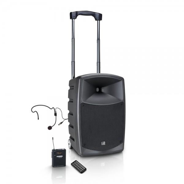 LD Systems ROADBUDDY 10 HS B6 - Akkubetriebener Bluetooth-Lautsprecher mit Mixer, Bodypack und Heads