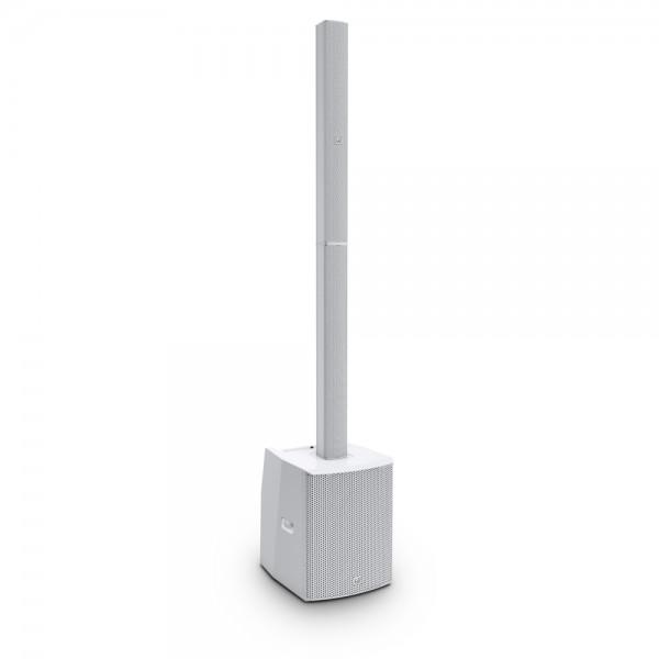 LD Systems MAUI 28 G2 W - Kompaktes Säulen PA System aktiv mit Mixer und Bluetooth weiß