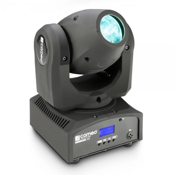 Cameo NanoBeam 300 - 1 x 30 W Cree LED RGBW Mini Moving Head mit Unlimited Pan inkl. IR-Fernbedienun