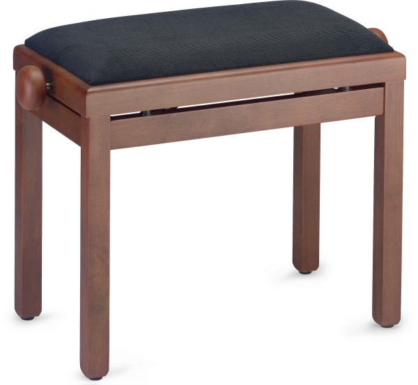 STAGG PB39 MHM VBK Matt, Klavierbank, Farbe Mahagoni, mit Samt-Sitzfläche in Schwarz
