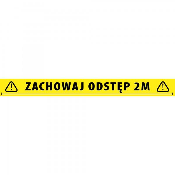 Adam Hall Accessories 58068 POL - Social Distancing Tape 2 Meter Polnisch
