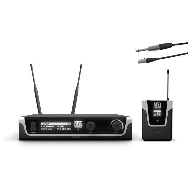 LD Systems U505 BPG - Funkmikrofon System mit Bodypack und Gitarren Kabel