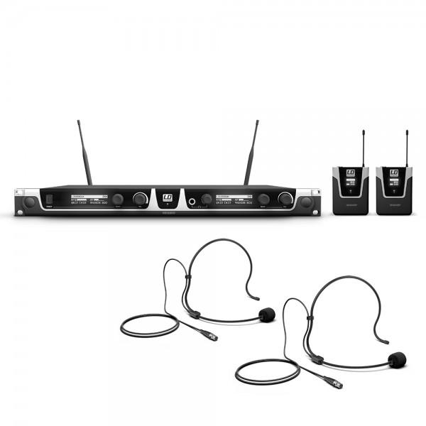 LD Systems U506 UK BPH 2 - Funkmikrofon System mit 2 x Bodypack und 2 x Headset