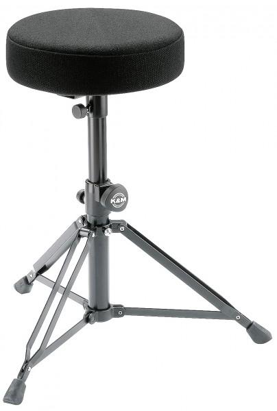 K&M 14016 Drummersitz schwarz Stoff