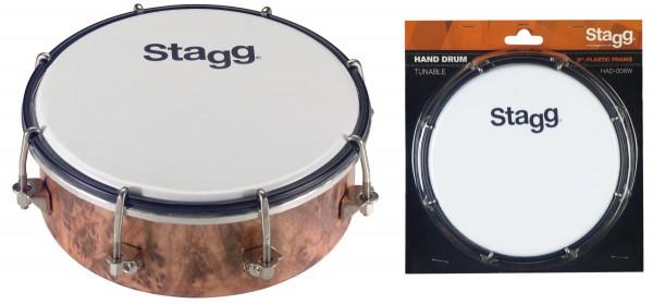 "STAGG HAD-006W 6"" stimmbare Kunststoff-Handtrommel"