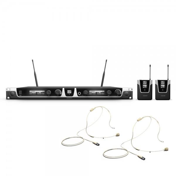 LD Systems U506 UK BPHH 2 - Funkmikrofon System mit 2 x Bodypack und 2 x Headset