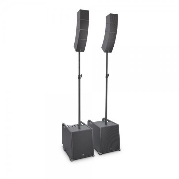 LD Systems CURV 500 PS - Portables Array System Power Set inklusive Distanzstange und Lautsprecherka