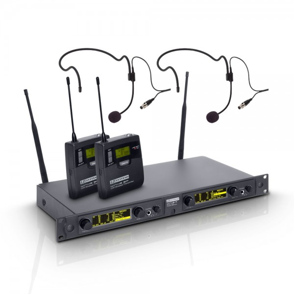 LD Systems WIN 42 BPH 2 B 5 - Funkmikrofon System mit 2 x Belt Pack und 2 x Headset