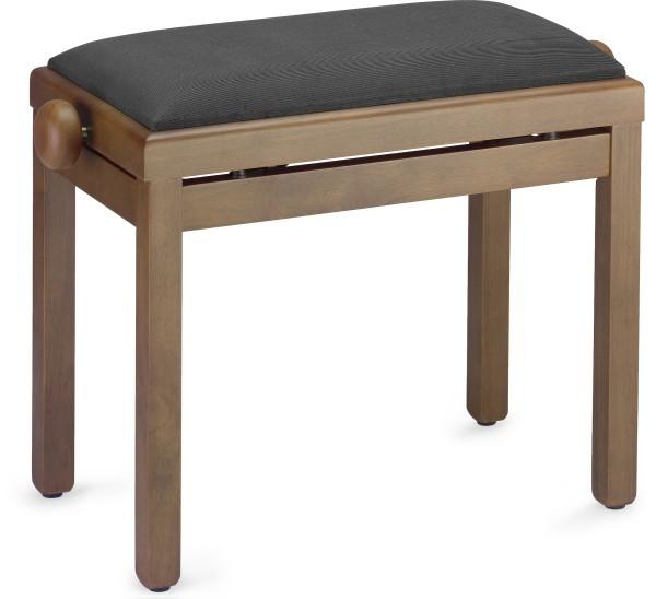 STAGG PB39 WNM VBK Matt. Klavierbank, Farbe Walnuss, mit Samt-Sitzfläche in Schwarz