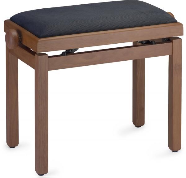 STAGG PB39 CHMM VBK Medium Matt Klavierbank Farbe Wildkirsch mit Samt-Sitzfläche in Schwarz