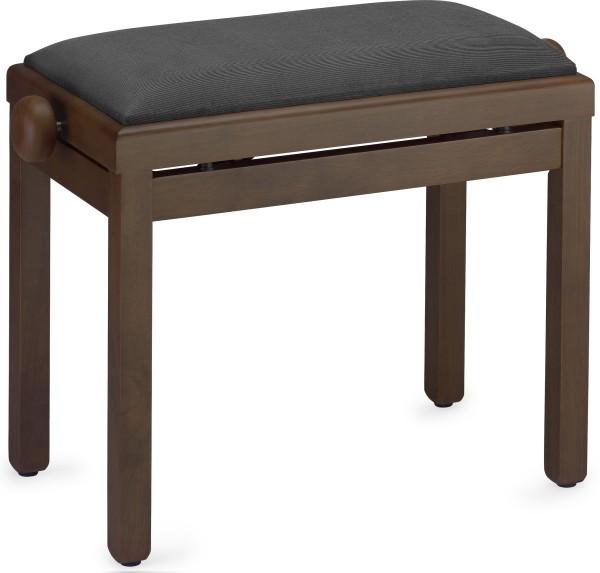 STAGG PB39 WNDM VBK Matt, Klavierbank, Farbe dunkles Walnuss, Sitzfläche Samt schwarz