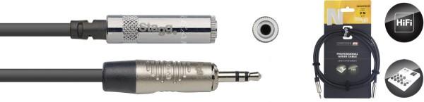 STAGG NAC2MPSMJSR N-Serie Audio Kabel - Stereo Mini Phono-Stecker / Stereo Mini Buchse