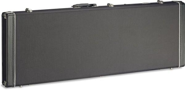 STAGG GCX-RE BK Vintage-Stil Serie Schwarz Tweed Deluxe Hartschalenkoffer für E-Gitarre, viereckiges
