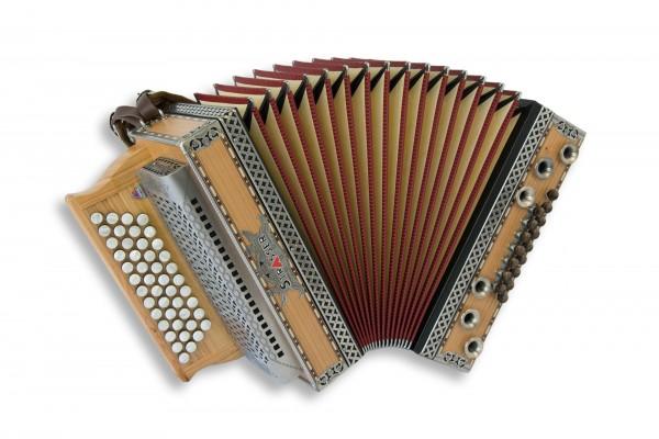 Strasser Steirische Harmonika Professional kirsch matt XH