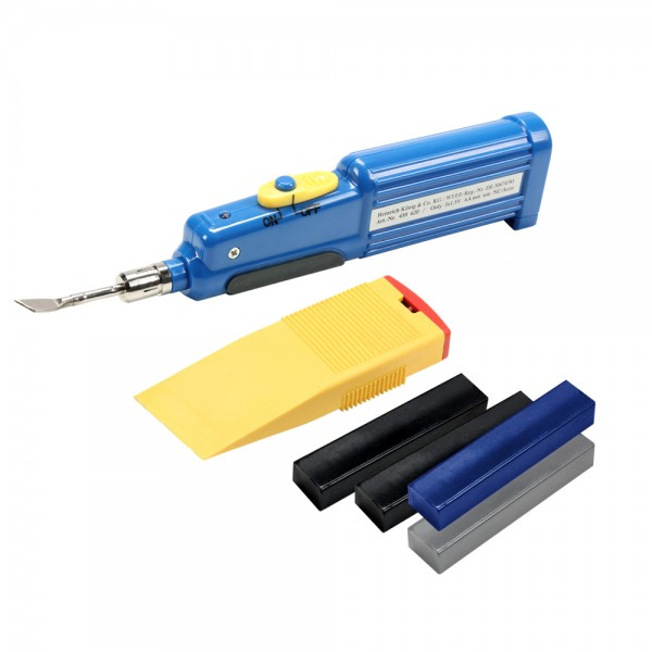 Adam Hall Hardware 0135 KIT - Reparatur-Kit für Flightcase Oberflächen schwarz/grau/blau