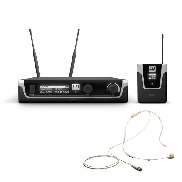 LD Systems U505 BPHH - Funkmikrofon System mit Bodypack und Headset beigefarben