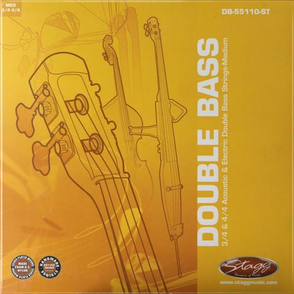 STAGG DB-55110-ST Saitensatz für 3/4 und 4/4 akustischen und elektrischen Kontrabass