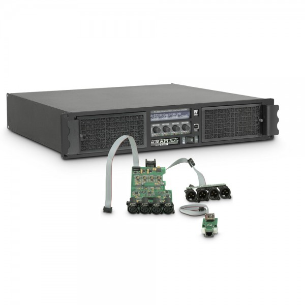 Ram Audio W 12004 DSP E - PA Endstufe 4 x 3025 W 2 Ohm inkl. DSP + Ethernet Modul