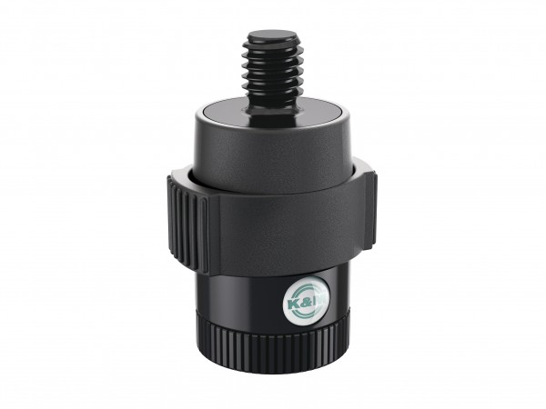 K&M 23910 Quick-Release Adapter für Mikrofone schwarz