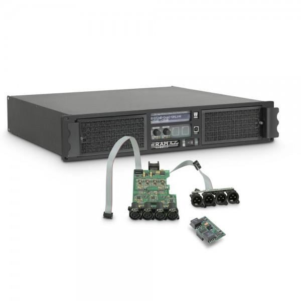 Ram Audio W 12004 DSP AES - PA Endstufe 4 x 3025 W 2 Ohm inkl. DSP Modul mit AES/EBU digitalem Einga