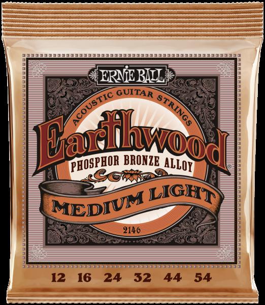 ERNIE BALL Akustik Earthwood Phosphor Bronze Medium Light 12-54