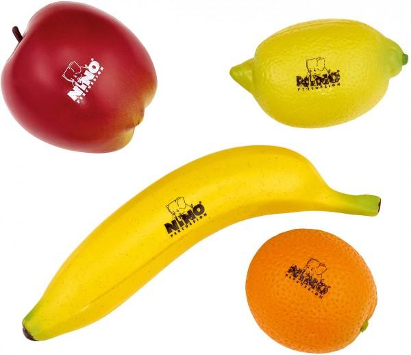 NINO BOTANY SHAKER SET FRUITS APPLE, LEMON, ORANGE, BANANA SET OF 4 PCS