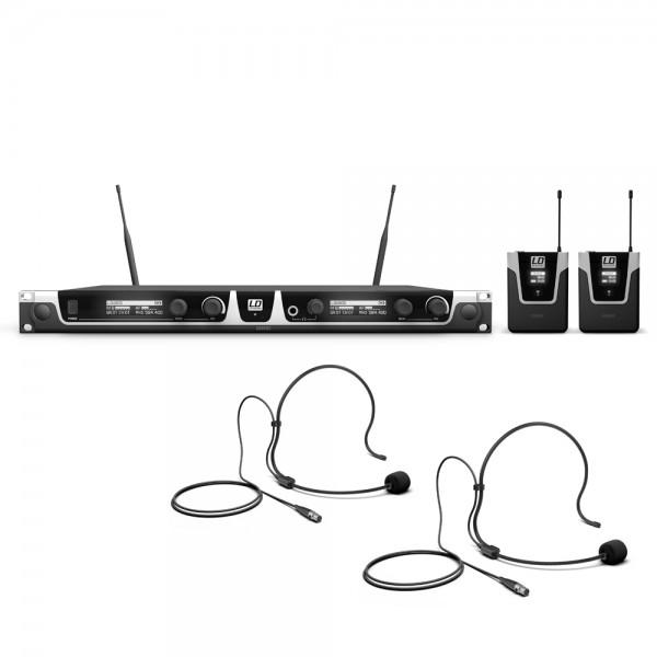 LD Systems U505 BPH 2 - Funkmikrofon System mit 2 x Bodypack und 2 x Headset