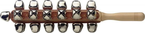 STAGG SLB-25 Schlitten-Glöckchen auf einem Stick, 25 Glocken